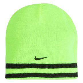 Boys Nike Reversible Striped Beanie Hat