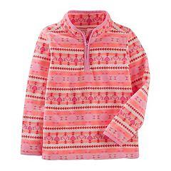 Girls 4-12 OshKosh B'gosh® Microfleece Half Zip Sweatshirt