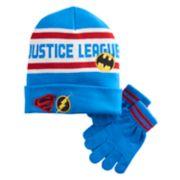 Boys 4-20 Justice League Hat & Glove Set