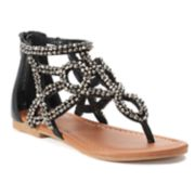 SO® Festive Girls' Gladiator Sandals