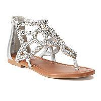 SO® Festive Girls' Gladiator Sandals