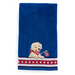 Celebrate Americana Together Puppy Flag Hand Towel