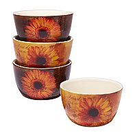 Certified International Gerber Daisy 4 pc Ice Cream Bowl Set