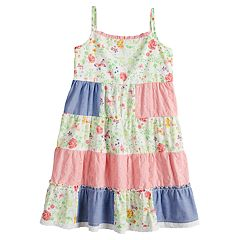 Girls 4-6x Blueberi Boulevard Patchwork Ruffled Sundress