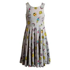 Girls 7-16 Emily West Emoji & Rainbow Reversible Dress