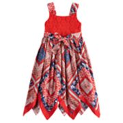 Girls 4-6x Blueberi Boulevard Patriotic Handkerchief-Hem Sundress