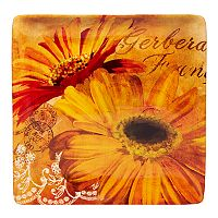 Certified International Gerber Daisy Square Platter