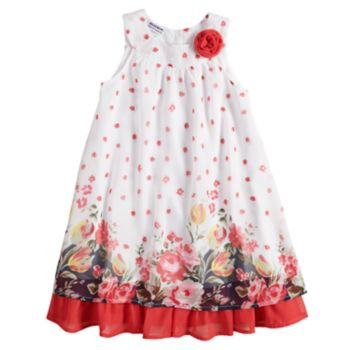 Girls 4-6x Blueberi Boulevard Floral Chiffon Dress