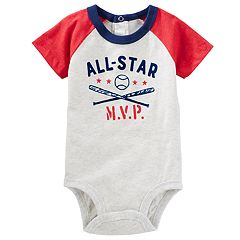 Baby Boy OshKosh B'gosh® 'All-Star MVP' Baseball Raglan Bodysuit