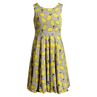 Girls 7-16 Emily West Daisy & Chevron Patterned Reversible Dress