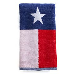 Celebrate Americana Together Texas Flag Hand Towel