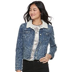 Juniors' Mudd® Sherpa Lined Jean Jacket