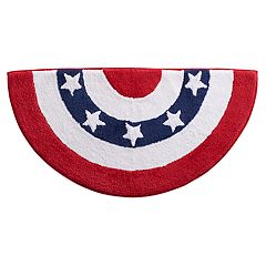 Celebrate Americana Together Bunting Bath Rug