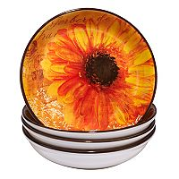 Certified International Gerber Daisy 4 pc Soup Bowl Set