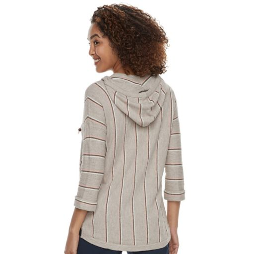 Women's SONOMA Goods for Life™ Striped Baja Hooded Sweatshirt