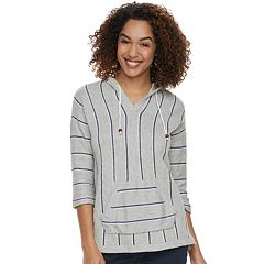 Women's SONOMA Goods for Life™ Striped Baja Hooded Sweatshirt