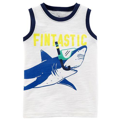 "Baby Boy Carter's ""Fintastic"" Snorkeling Shark Tank Top"