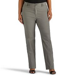 Plus Size Lee Eden Straight-Leg Career Pants