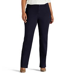 Plus Size Lee Eden Straight-Leg Career Pants