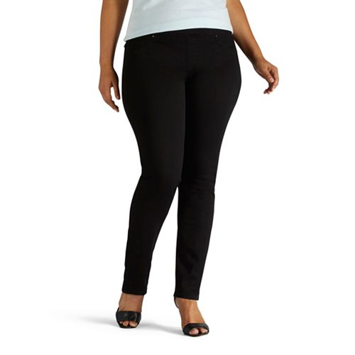 d7c4a66f Plus Size Lee Sculpting Slim Leg Pull-On Jeans