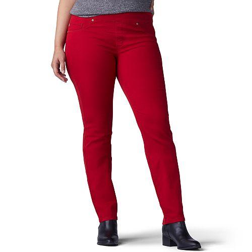 0ef760ad987 Plus Size Lee Sculpting Slim Leg Pull-On Jeans