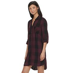 Women's Rock & Republic® Plaid High-Low Shirtdress