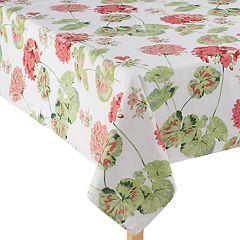 Laura Ashley Geranium Red Tablecloth