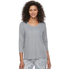 Women's Croft & Barrow® Pajamas: Crewneck Tee