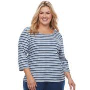 Plus Size Croft & Barrow® Pajamas: Crewneck Tee