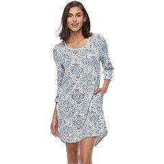 Women's Croft & Barrow® Pajamas: 3/4-Sleeve Sleepshirt