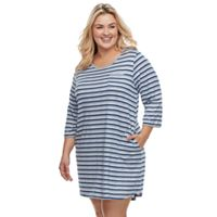 Plus Size Croft & Barrow® Pajamas: 3/4-Sleeve Sleepshirt