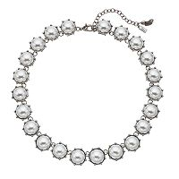 Simply Vera Vera Wang Simulated Pearl Cabochon Necklace