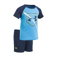 Baby Boy Under Armour Breaking Bat Baseball Graphic Tee & Shorts Set