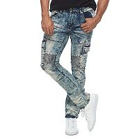 Men's RawX Slim-Fit Moto Stretch Cargo Jeans