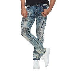 Men's RawX Slim-Fit Moto Stretch Cargo Jeans