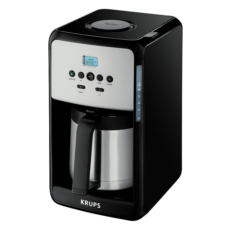 Krups Coffee Maker Kohls : Krups 12-Cup Savoy Programmable Black Thermal Coffee Maker Kick your morning off with Krups ...