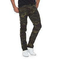 Men's RawX Camo Slim-Fit Moto Stretch Jeans