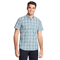 Men's IZOD Cool FX Breeze Classic-Fit Plaid Casual Button-Down Shirt
