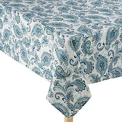 Laura Ashley Velotti Blue Tablecloth