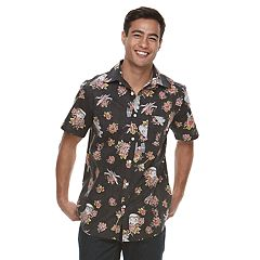 Men's Star Wars Floral Button-Down Shirt