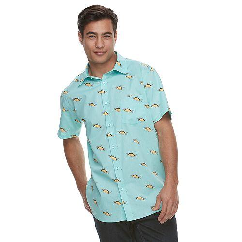 6d8053ff2fd Men s Taco Shark Button-Down Shirt