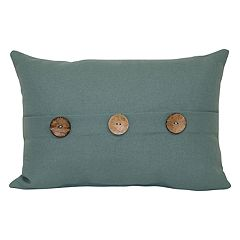 SONOMA Goods for Life™ Solid 3-Button Indoor Outdoor Oblong Throw Pillow