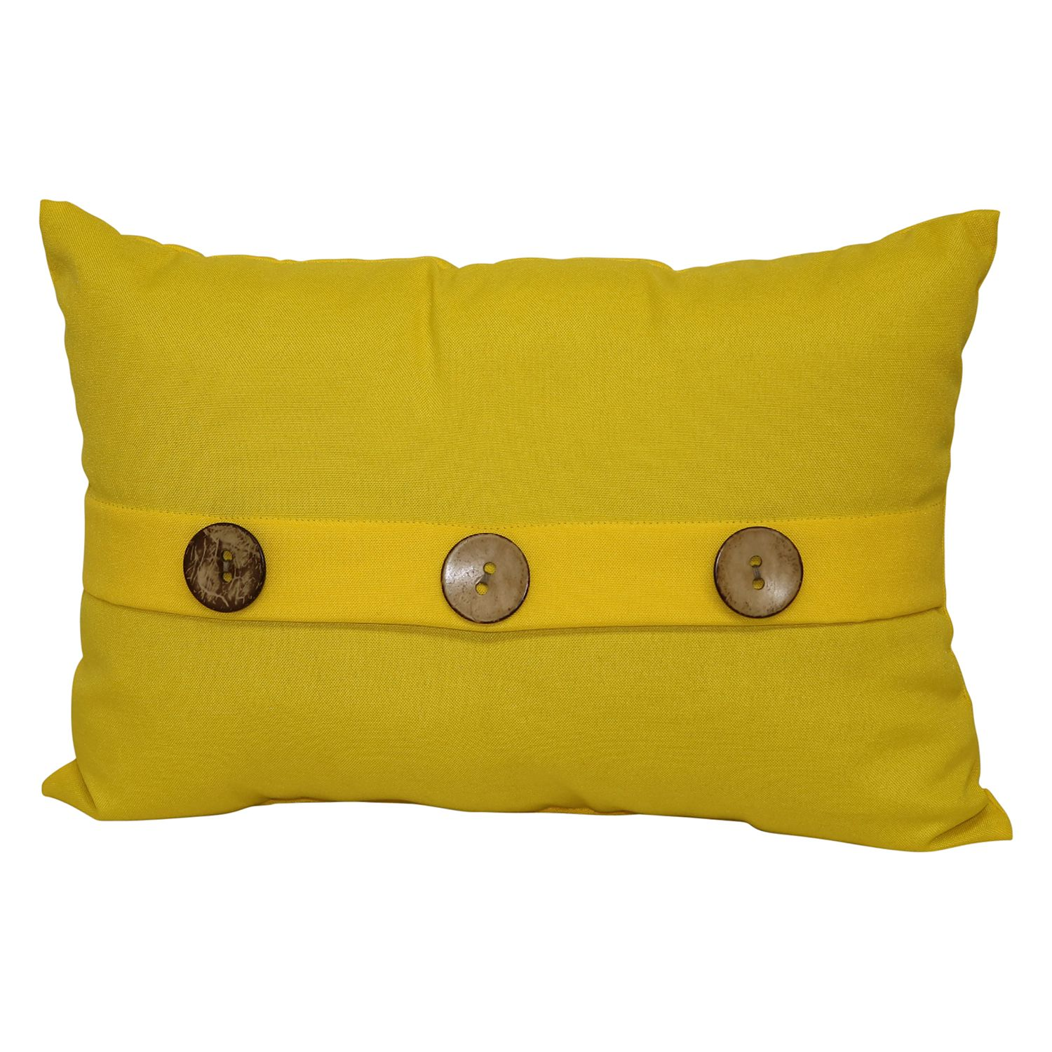SONOMA Goods For Life™ Solid 3 Button Indoor Outdoor Oblong Throw Pillow.  Tan Aqua Yellow