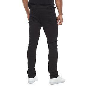 Men's RawX Slim-Fit Embossed Moto Stretch Jeans