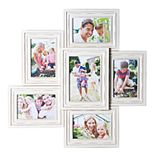 Melannco Distressed 6-Opening Collage Frame