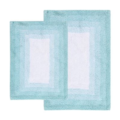 Chesapeake Whitney Ombre Reversible 2-piece Bath Rug Set
