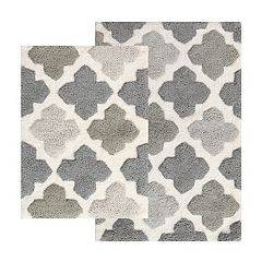 Chesapeake Alloy Moroccan Tiles 2-piece Bath Rug Set