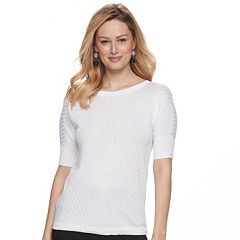 Women's Apt. 9® Ribbed Dolman Crewneck Sweater