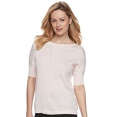 Women's Apt. 9® Ribbed Dolman Crewneck Sweater