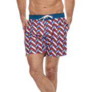 Men's Cole Patterned Hybrid Swim Trunks